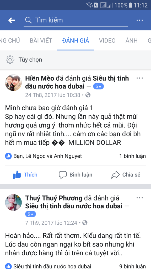 feed back tinh dau dubai attar ameer