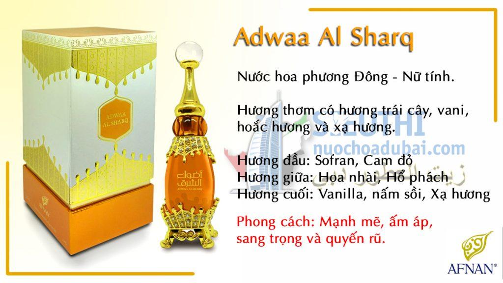 tinh dầu nuwos hoa dubai nội đại adwaa al sharq